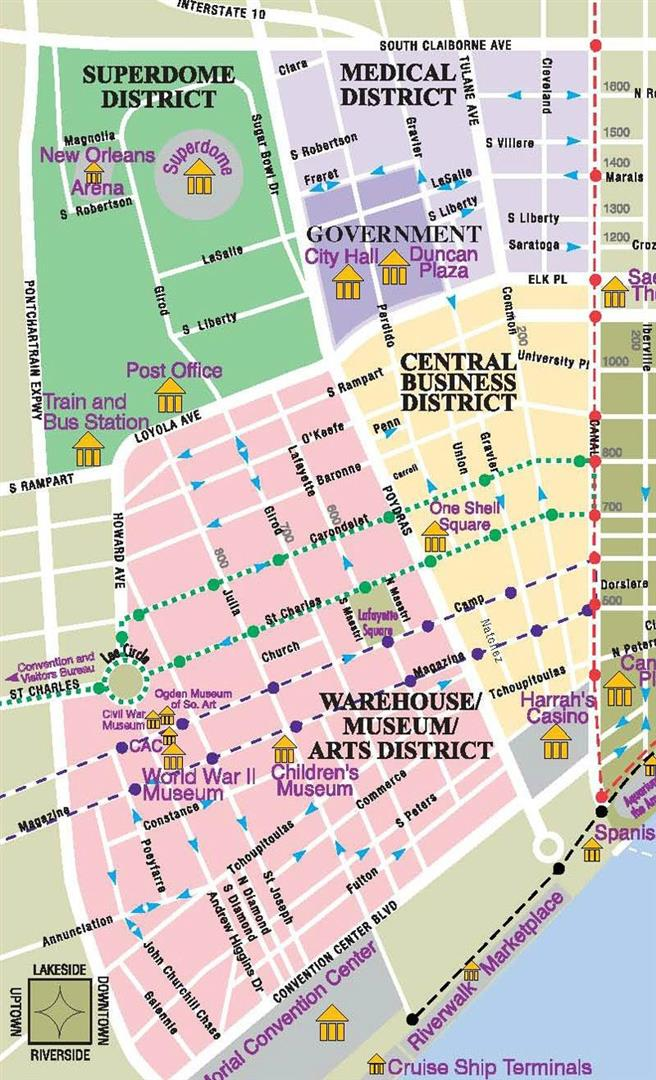 26 excellent New Orleans District Map bnhspinecom